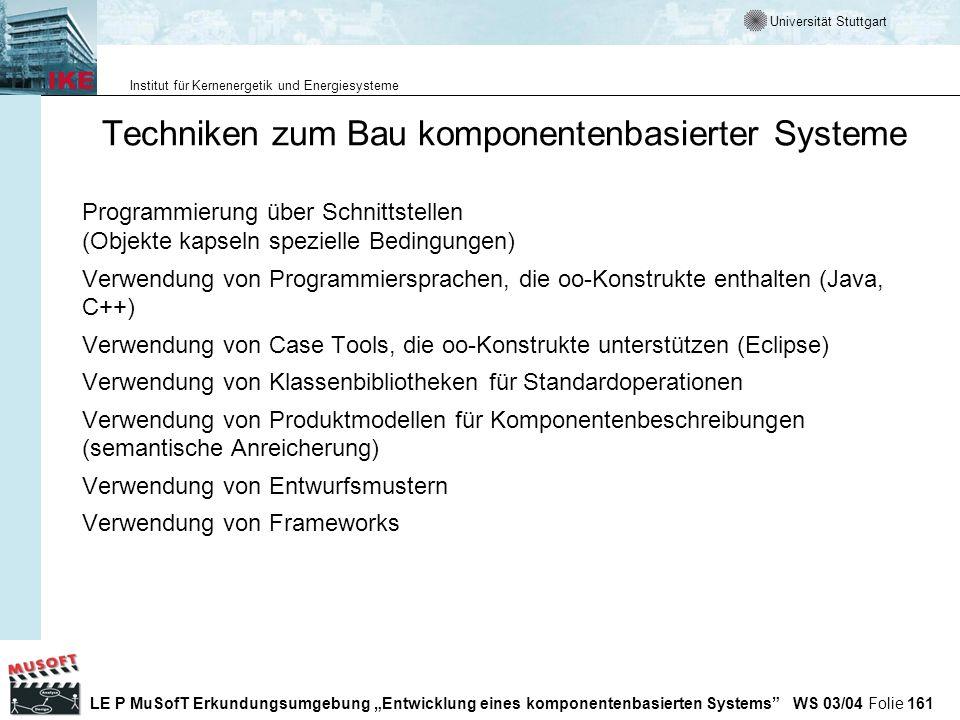 Techniken zum Bau komponentenbasierter Systeme