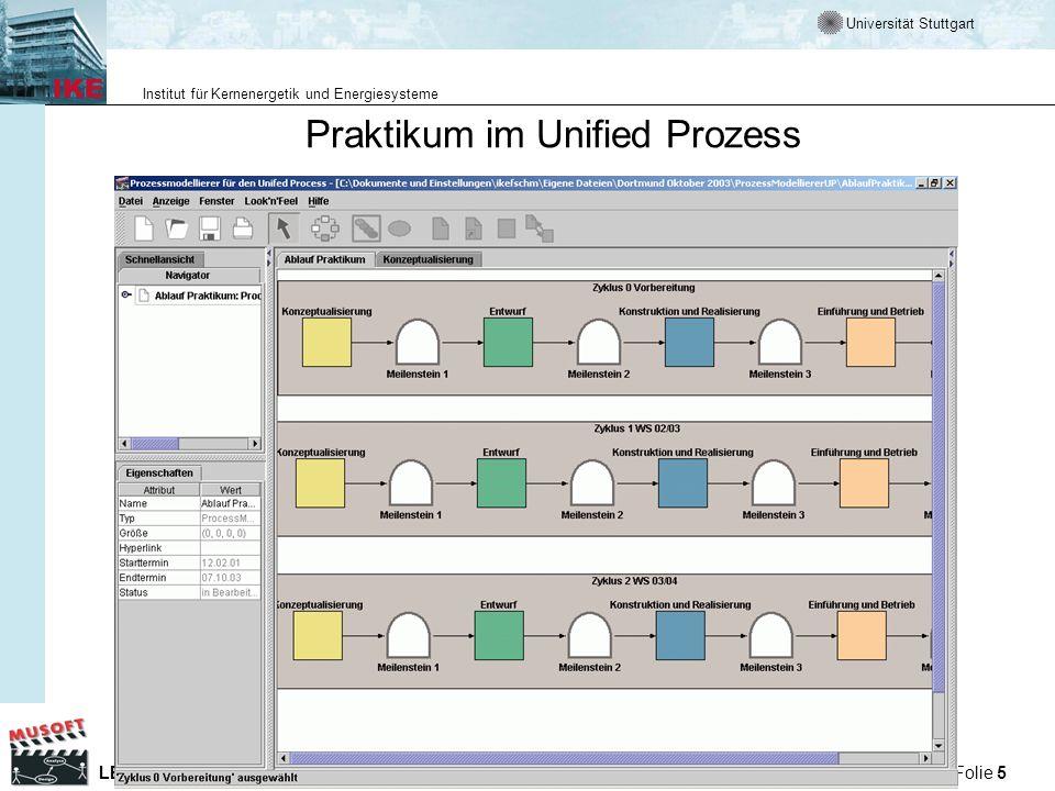 Praktikum im Unified Prozess