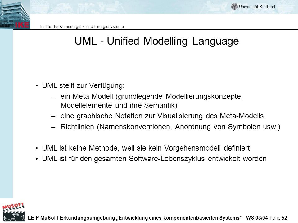 UML - Unified Modelling Language
