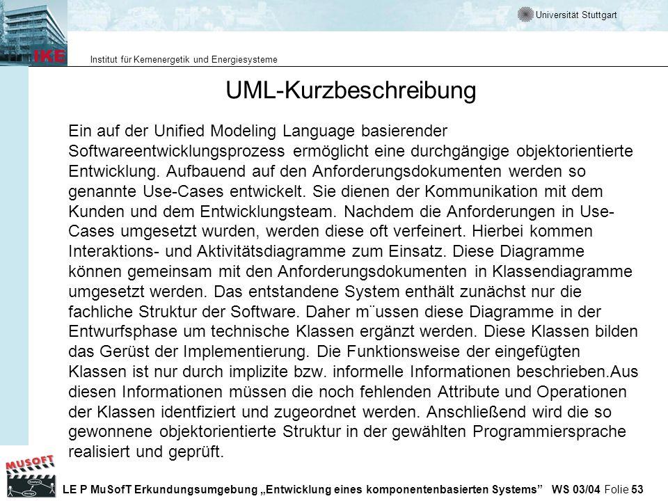 UML-Kurzbeschreibung
