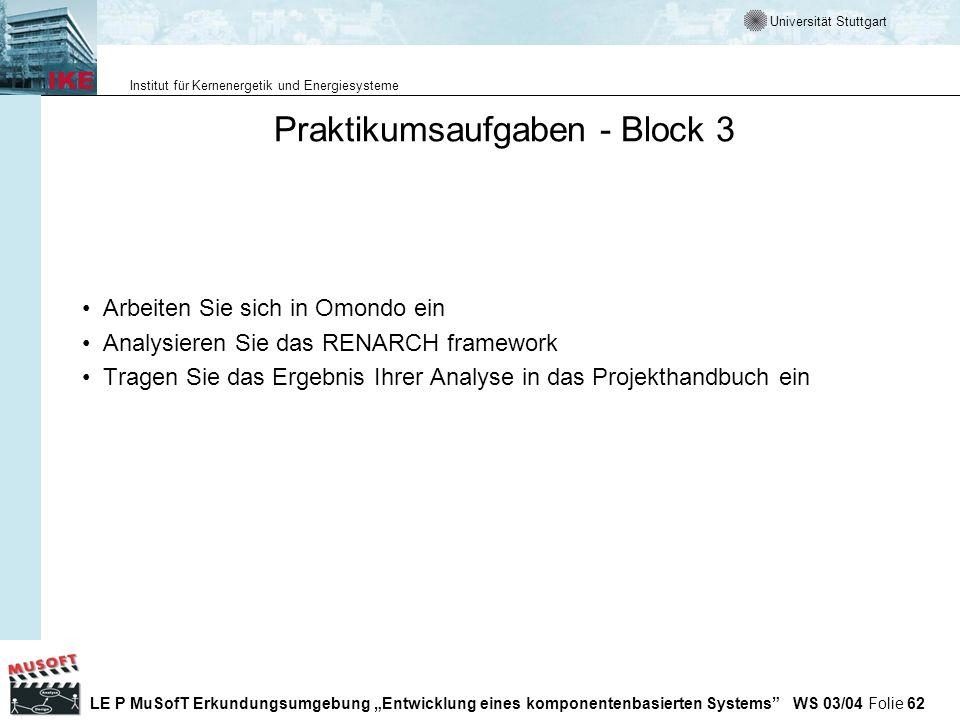 Praktikumsaufgaben - Block 3