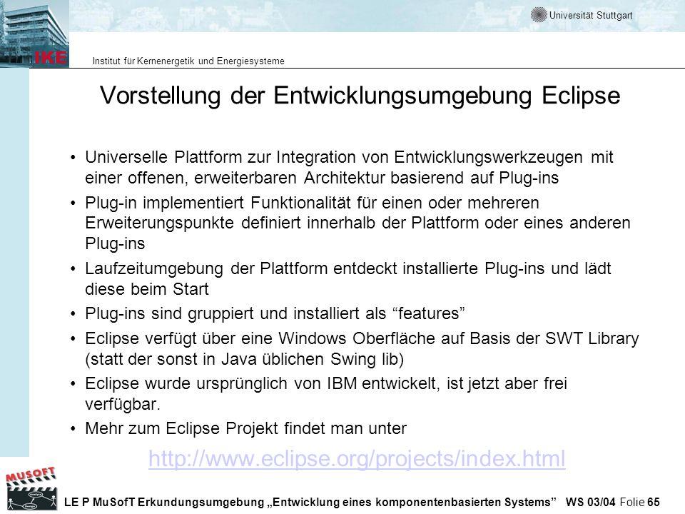 Vorstellung der Entwicklungsumgebung Eclipse