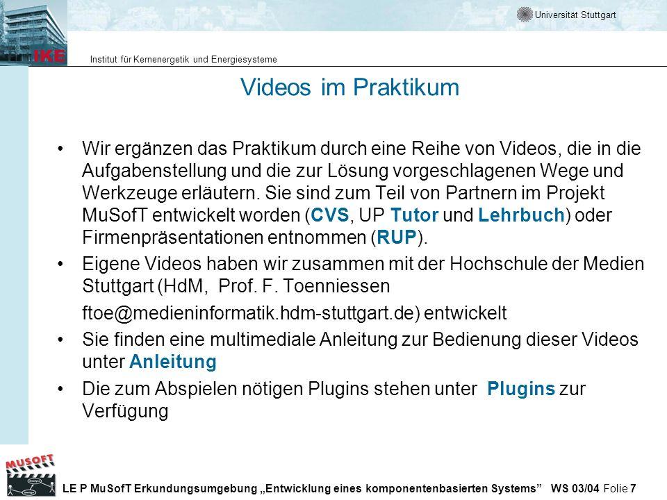 Videos im Praktikum
