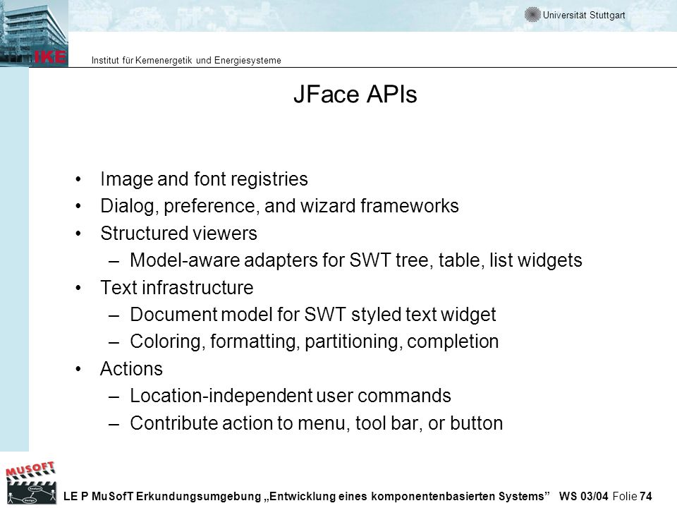 JFace APIs Image and font registries