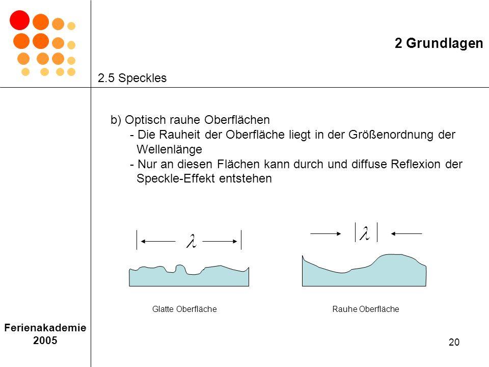2 Grundlagen 2.5 Speckles.