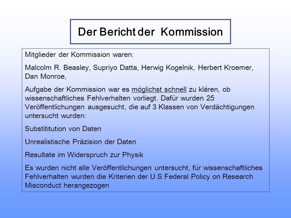 Der Bericht der Kommission