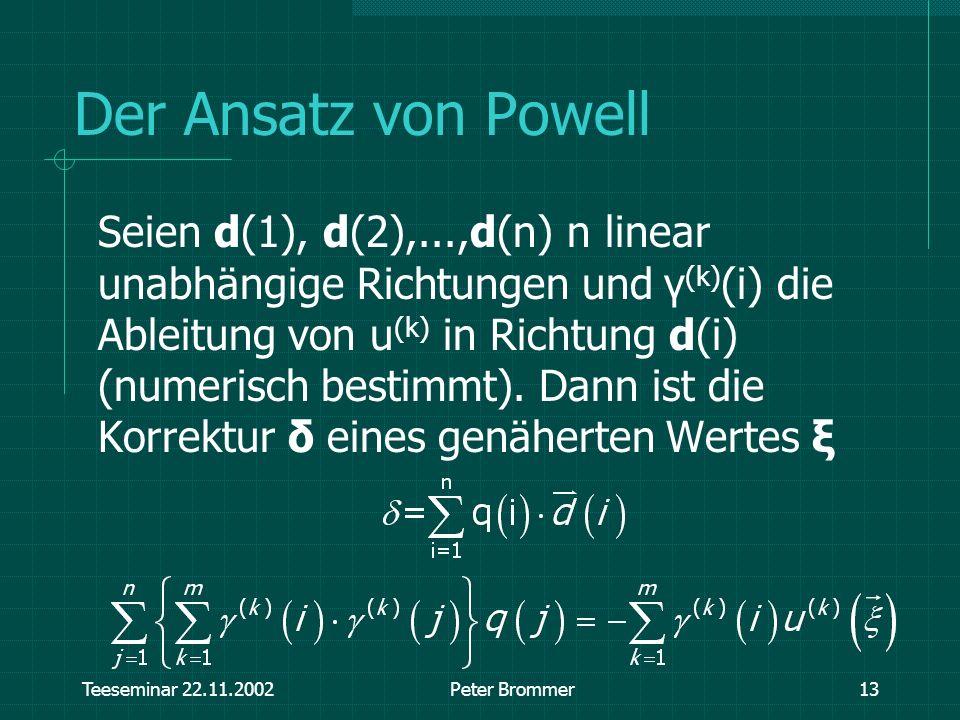 Der Ansatz von Powell