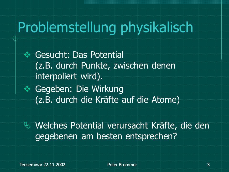 Problemstellung physikalisch