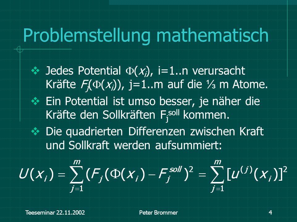 Problemstellung mathematisch