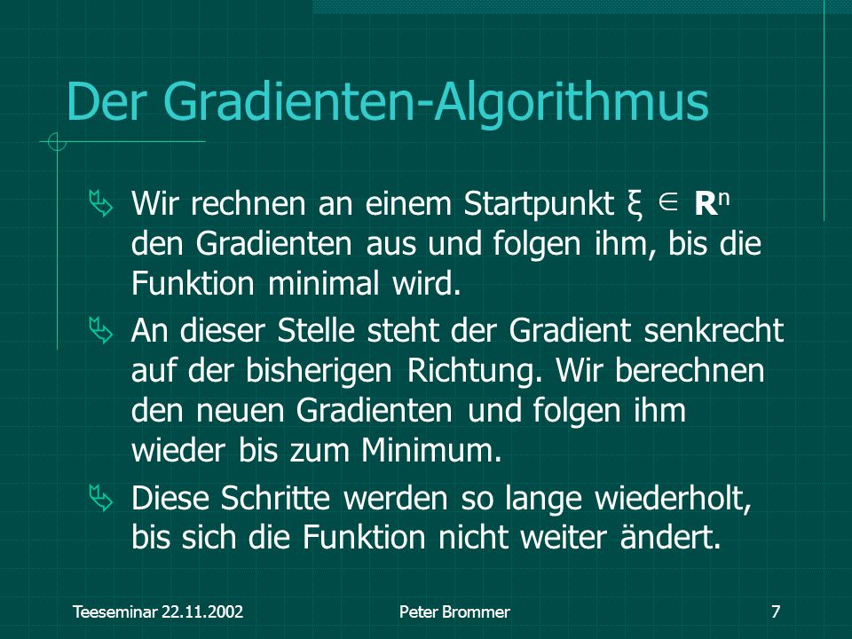 Der Gradienten-Algorithmus