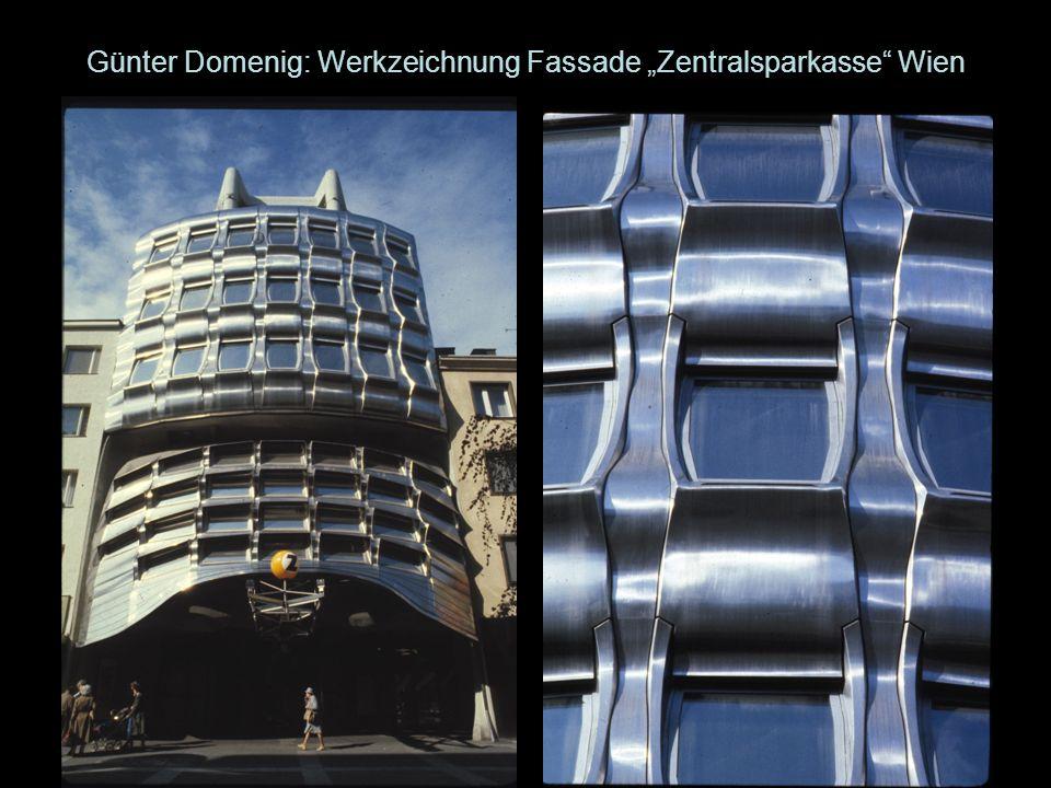 """Günter Domenig: Werkzeichnung Fassade """"Zentralsparkasse Wien"""