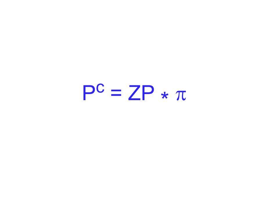 Pc = ZP * p