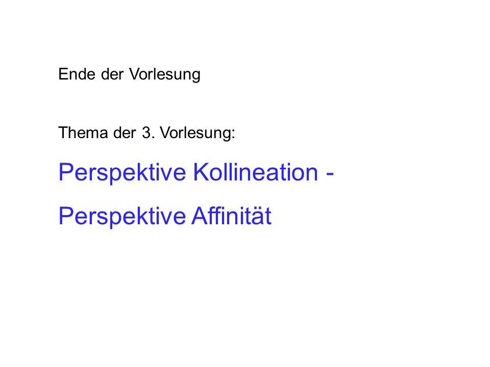 Perspektive Kollineation - Perspektive Affinität