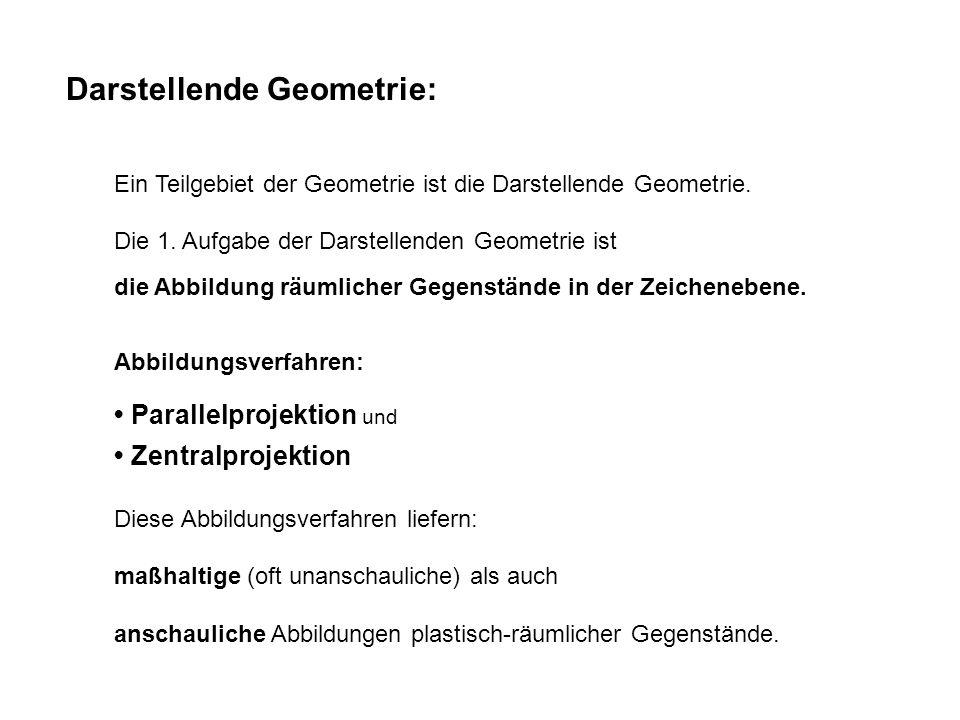 Darstellende Geometrie: