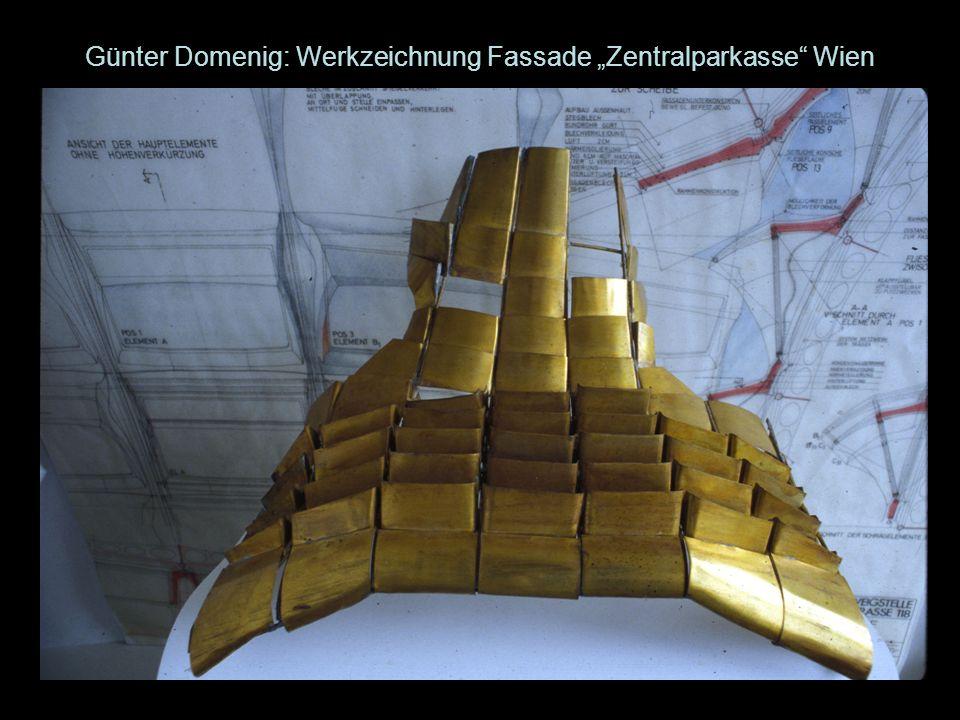 """Günter Domenig: Werkzeichnung Fassade """"Zentralparkasse Wien"""