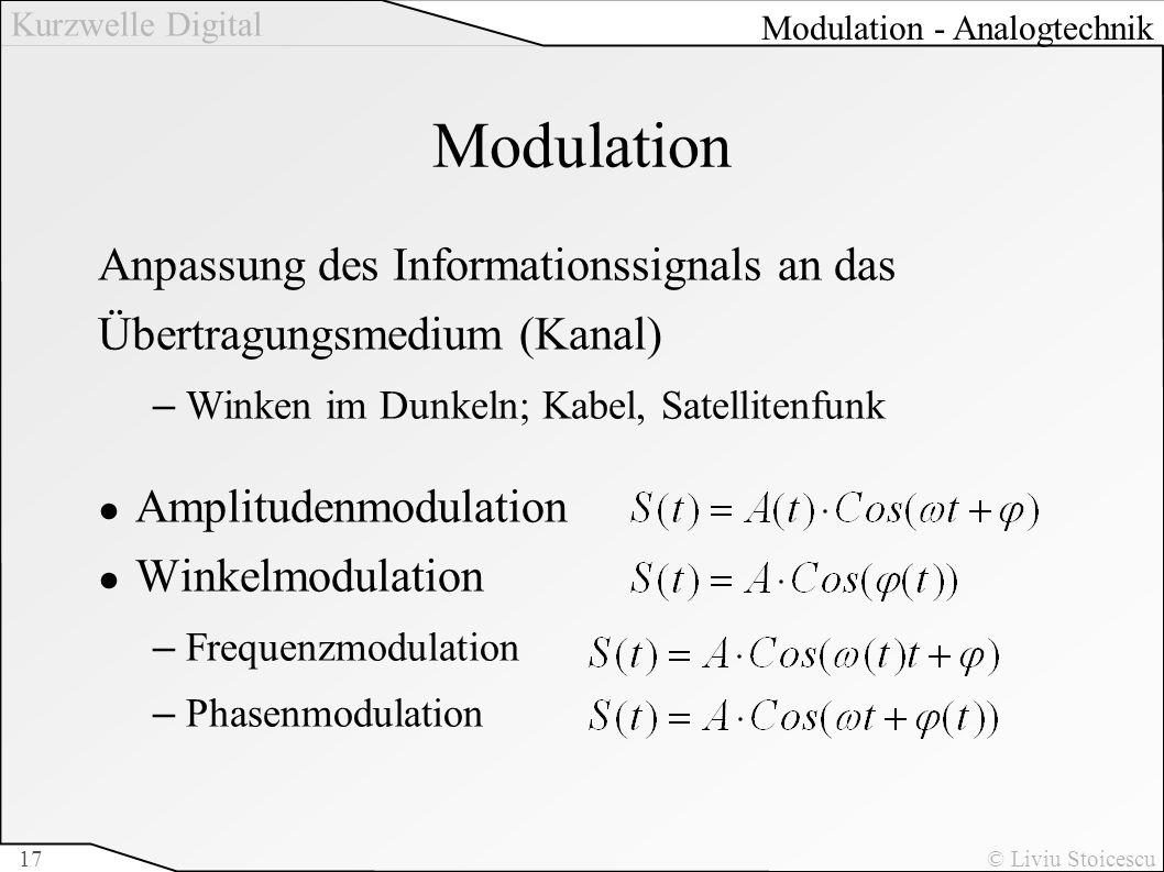 Modulation Anpassung des Informationssignals an das