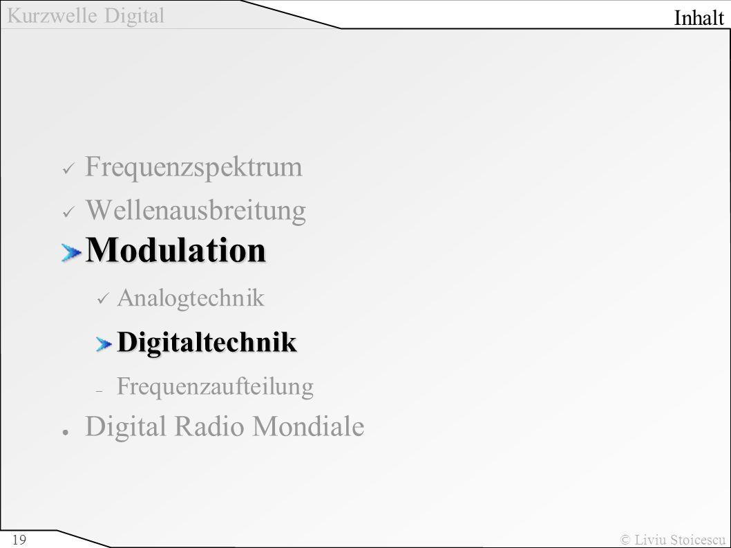 Modulation Frequenzspektrum Wellenausbreitung Digitaltechnik