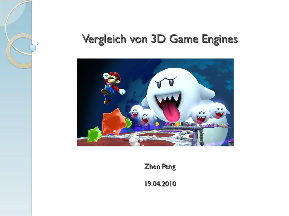 Vergleich von 3D Game Engines