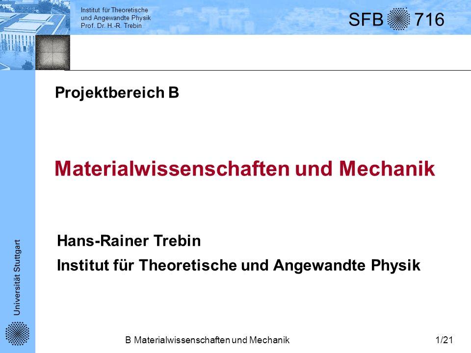 Materialwissenschaften und Mechanik