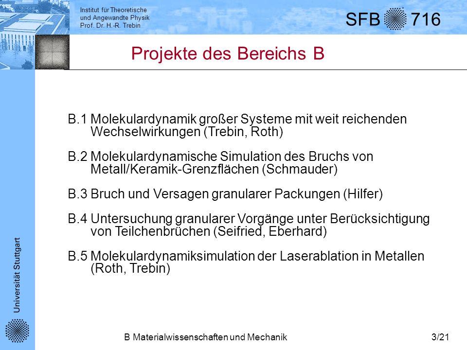 Projekte des Bereichs B