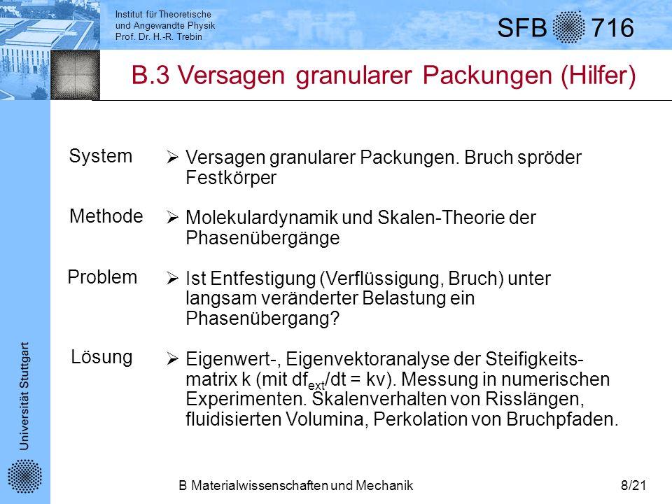 B.3 Versagen granularer Packungen (Hilfer)