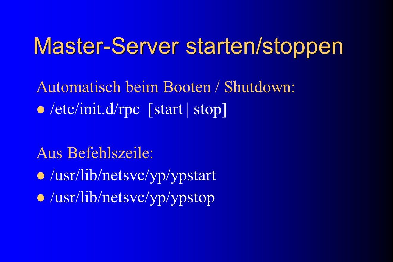 Master-Server starten/stoppen