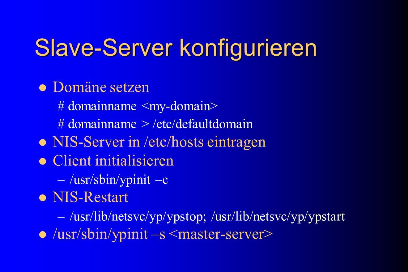 Slave-Server konfigurieren