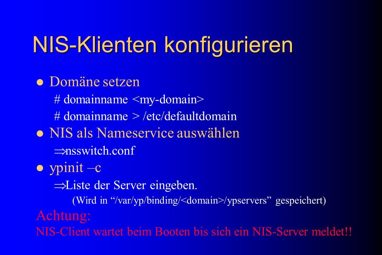 NIS-Klienten konfigurieren