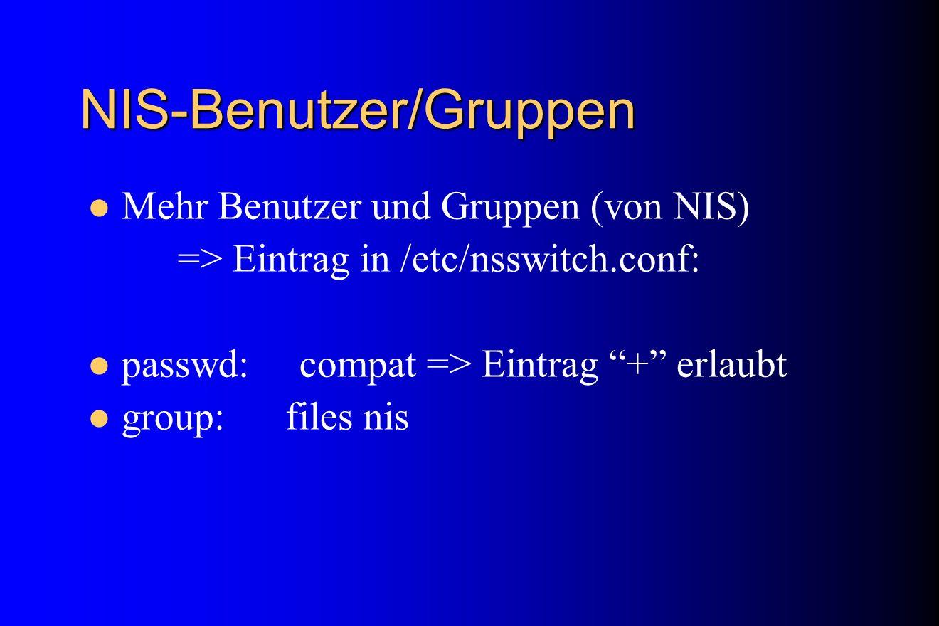 NIS-Benutzer/Gruppen