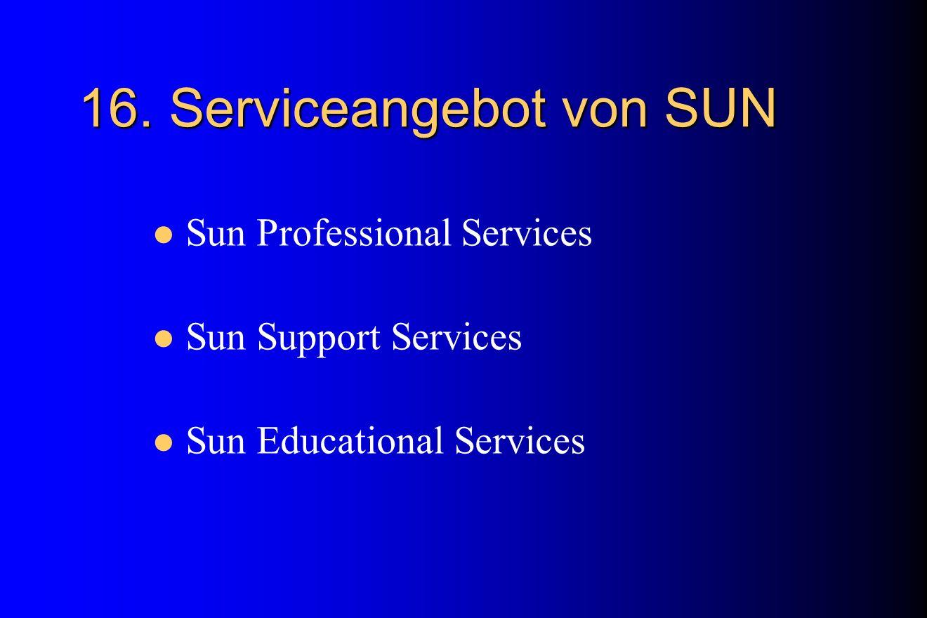 16. Serviceangebot von SUN