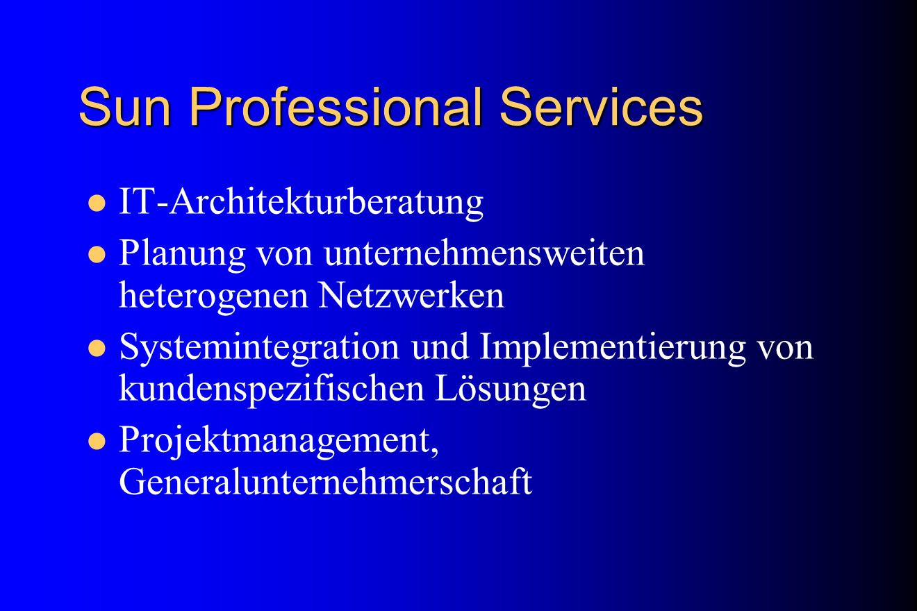 Sun Professional Services