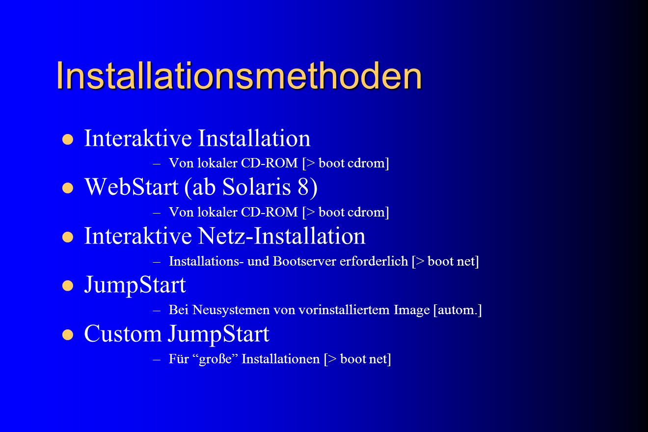 Installationsmethoden