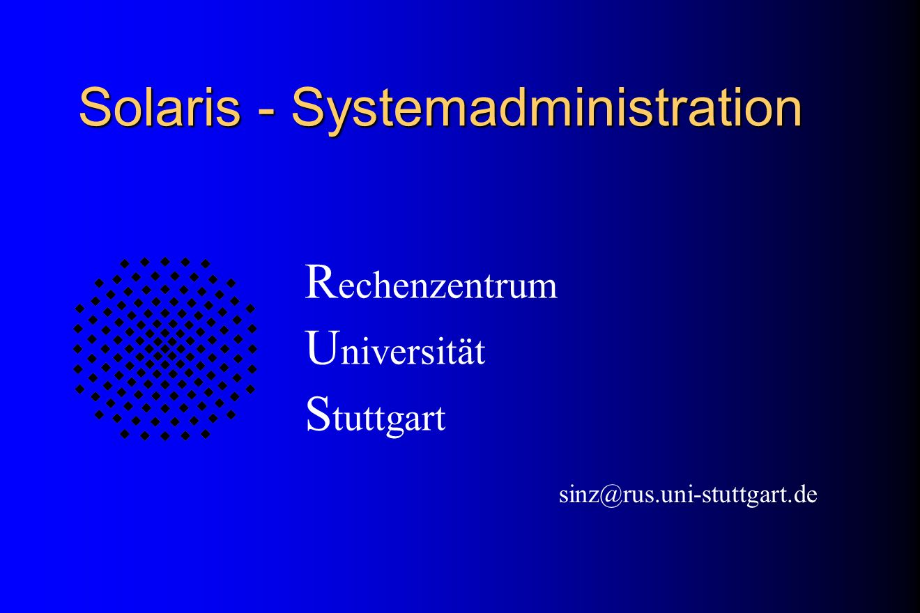 Solaris - Systemadministration