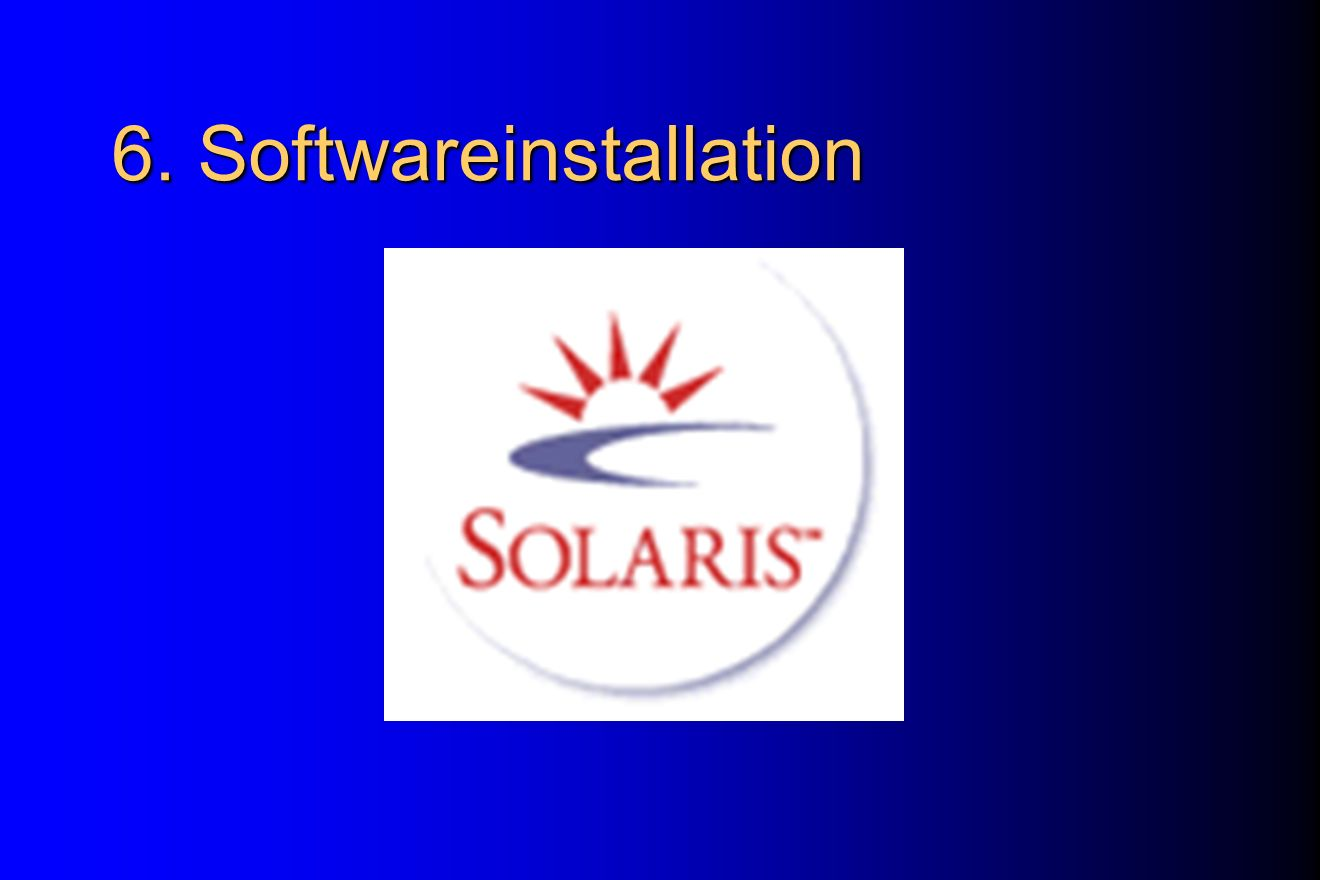 6. Softwareinstallation