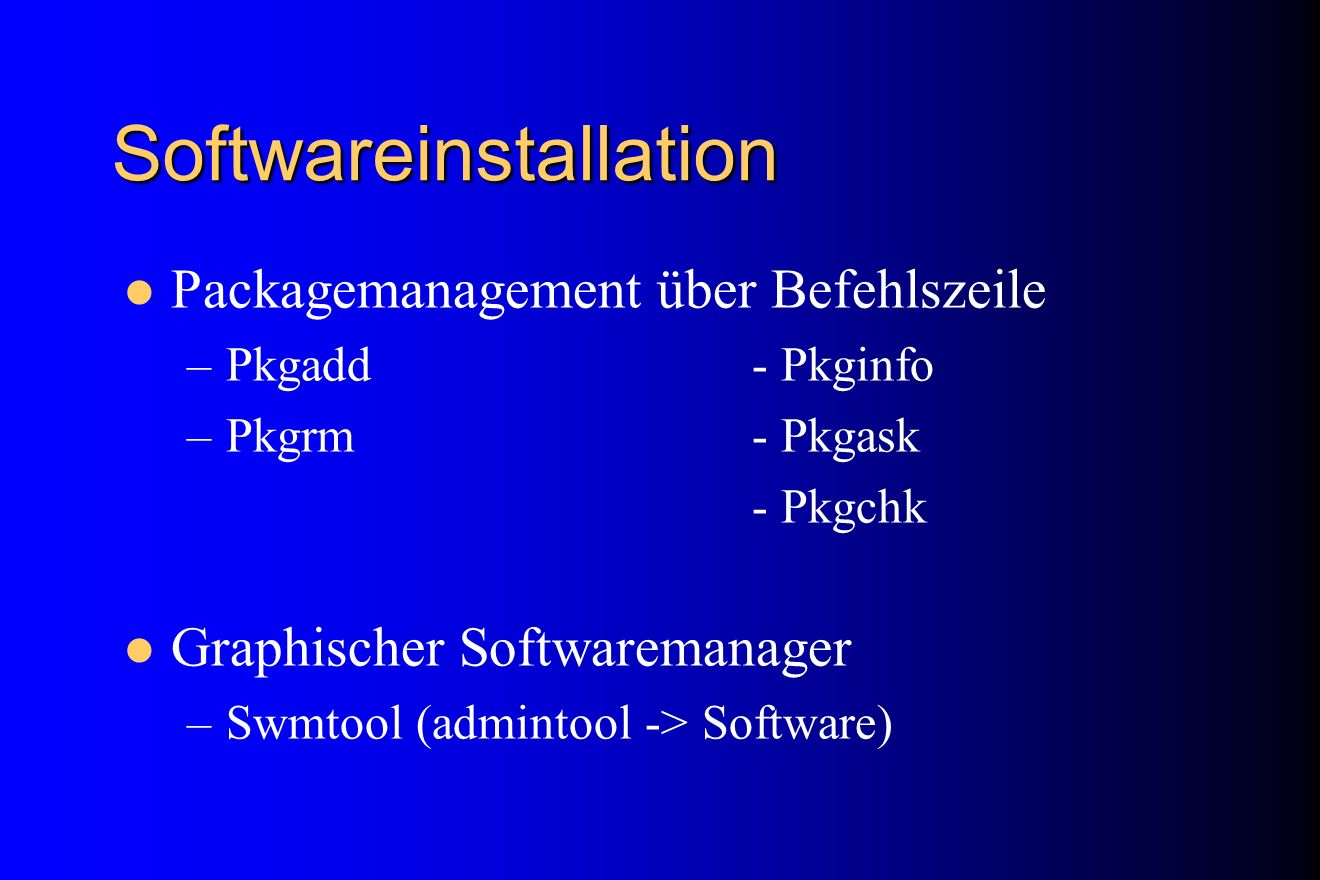 Softwareinstallation