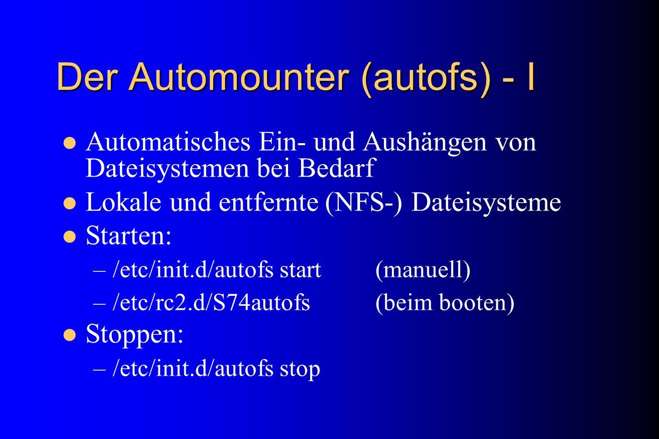 Der Automounter (autofs) - I