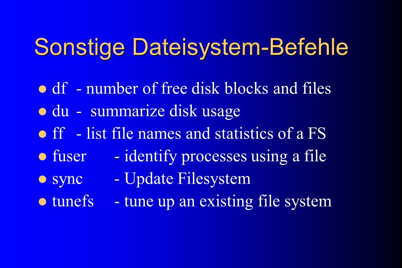 Sonstige Dateisystem-Befehle