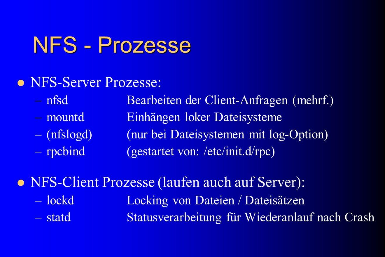 NFS - Prozesse NFS-Server Prozesse: