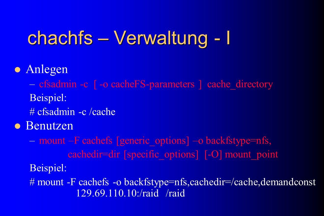 chachfs – Verwaltung - I