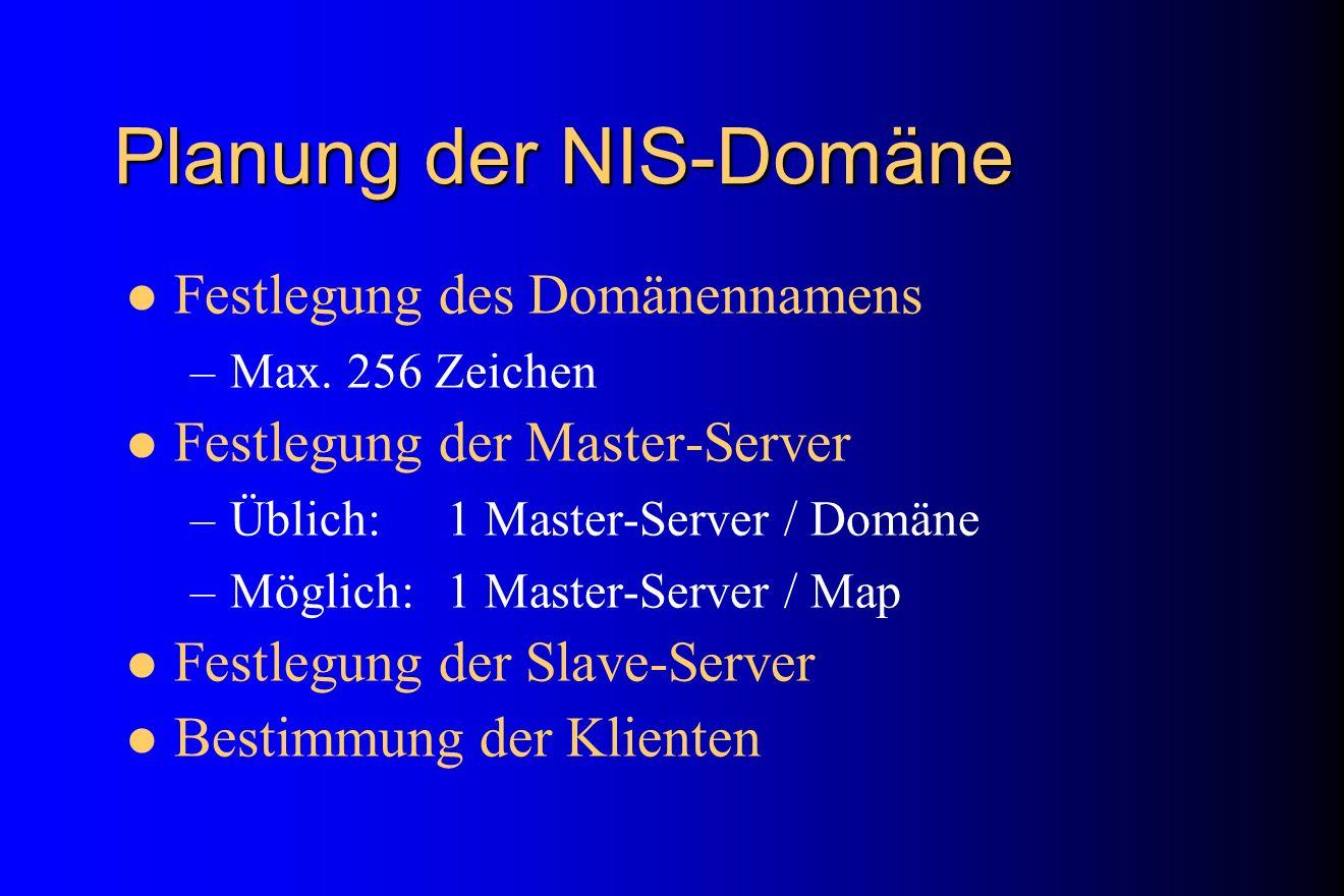 Planung der NIS-Domäne