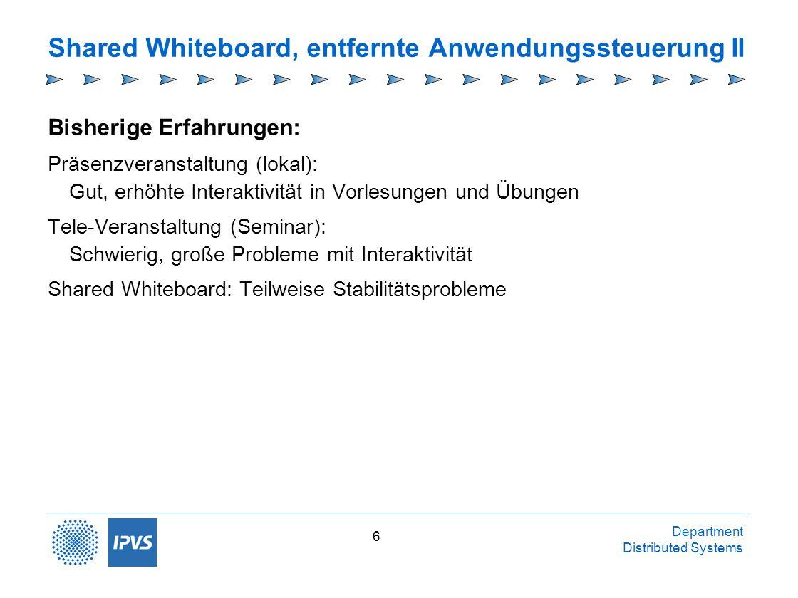 Shared Whiteboard, entfernte Anwendungssteuerung II