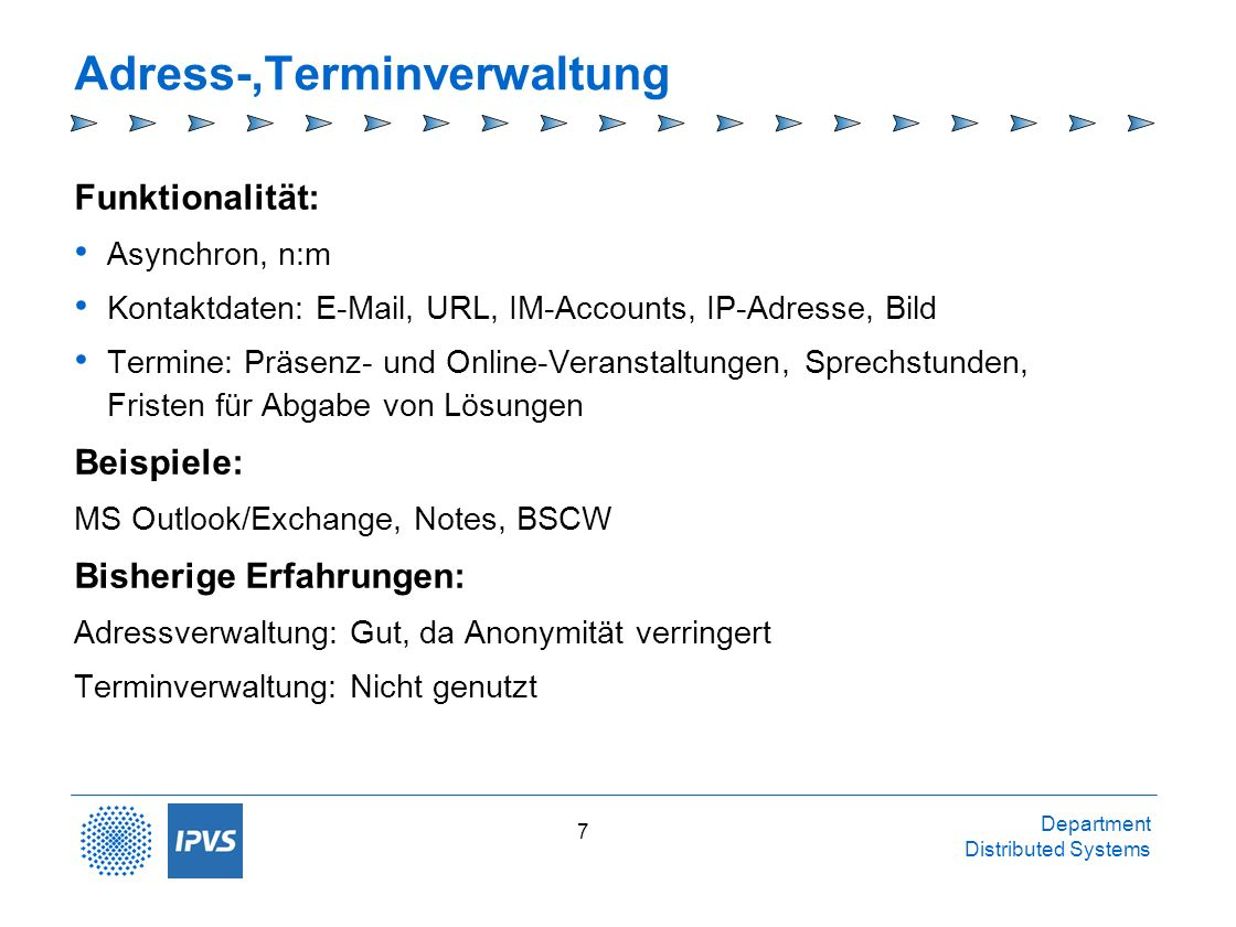 Adress-,Terminverwaltung