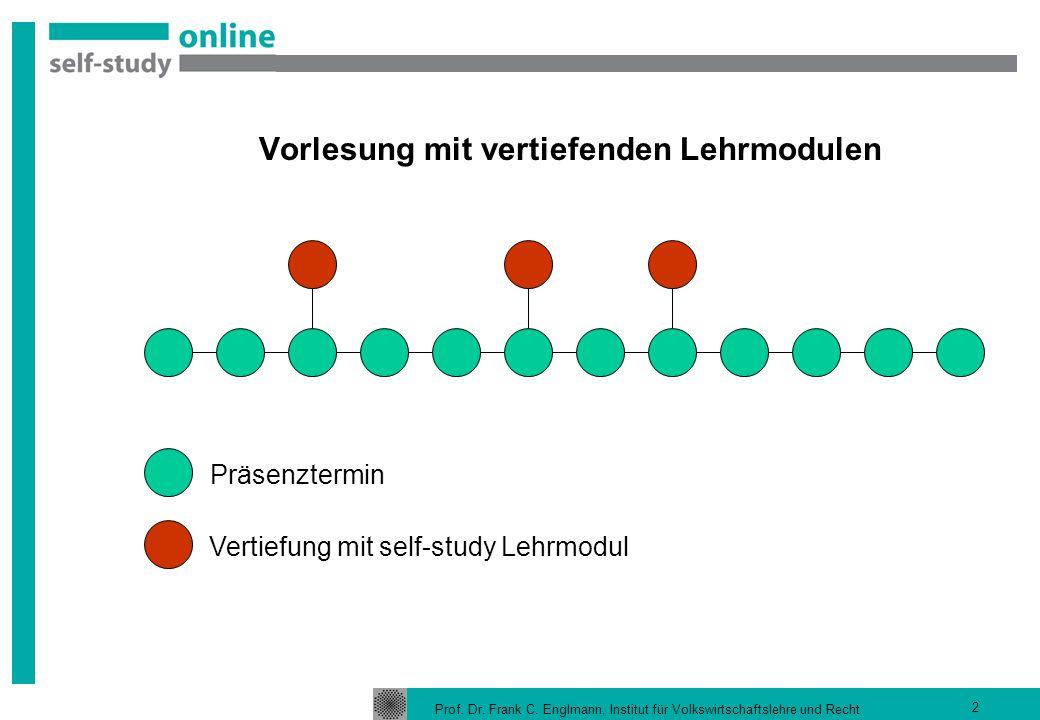 Vorlesung mit vertiefenden Lehrmodulen