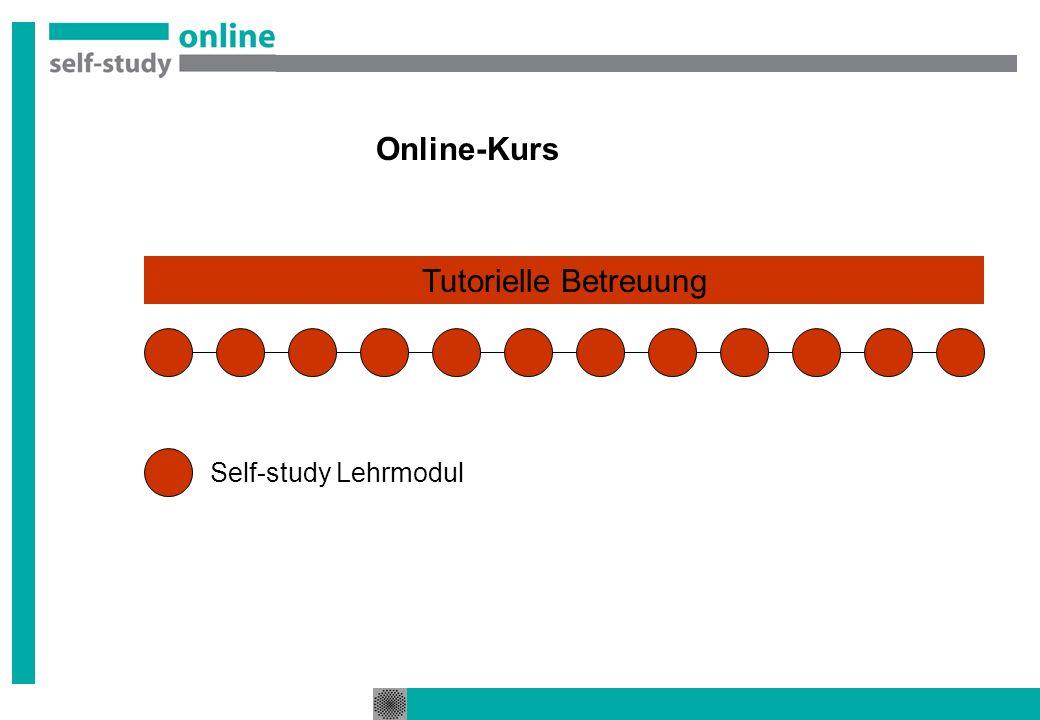 Online-Kurs Tutorielle Betreuung Self-study Lehrmodul
