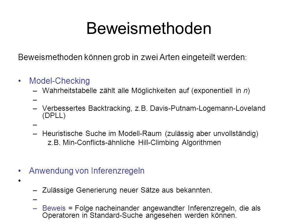 Beweismethoden Beweismethoden können grob in zwei Arten eingeteilt werden: Model-Checking.