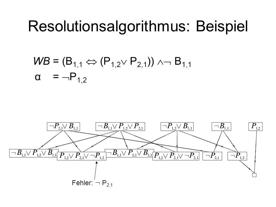 Resolutionsalgorithmus: Beispiel