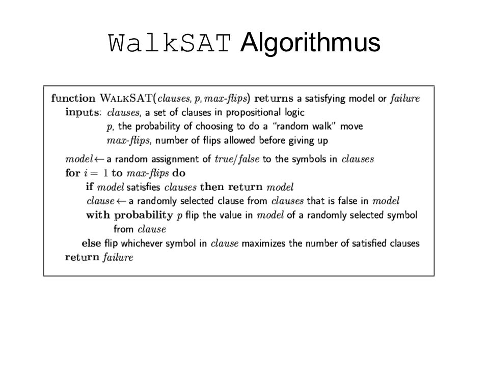 WalkSAT Algorithmus