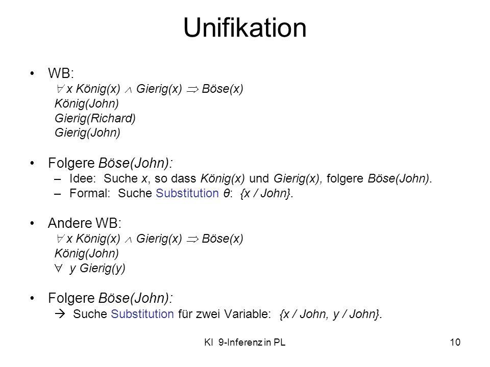 Unifikation WB: Folgere Böse(John): Andere WB: