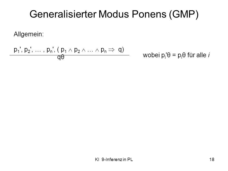 Generalisierter Modus Ponens (GMP)