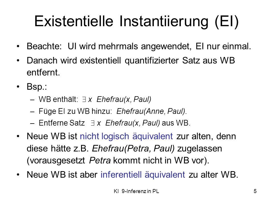 Existentielle Instantiierung (EI)